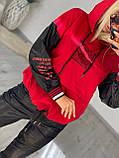 Жіночий турецький костюм з трикотажу і екошкіра Розміри:З,М,Л,ХЛ (повномірні), 2 кольори., фото 2