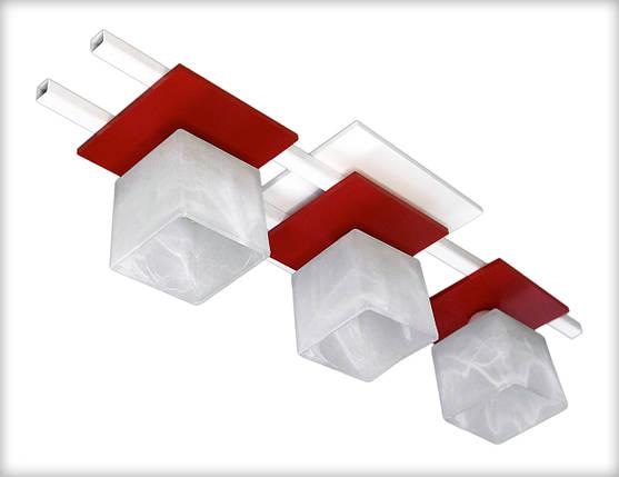 Люстра потолочная Данко 2604-6 бело красная, фото 2
