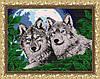 """Рисунок на ткани для вышивания бисером """"Волки лунной ночью"""""""