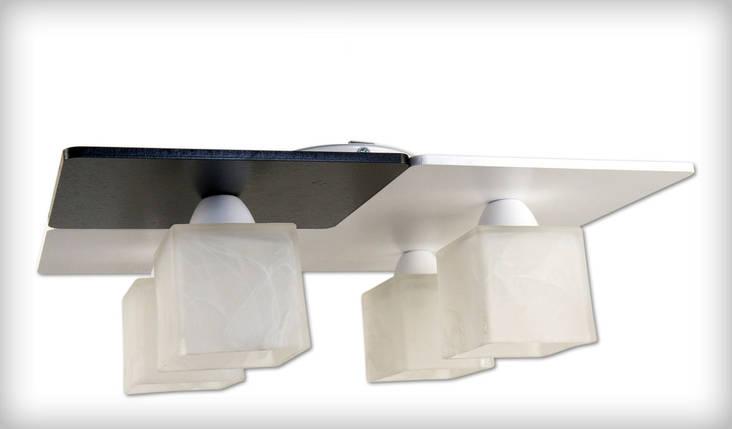 Люстра стельова Тетріс 0804-8 чорно біла, фото 2
