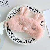 Маска для сну Зайчик ніжно-рожева