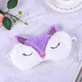 Маска для сну Лисичка фіолетова