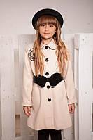 Пальто из кашемира, демисезонное для девочки (р. 34-36)
