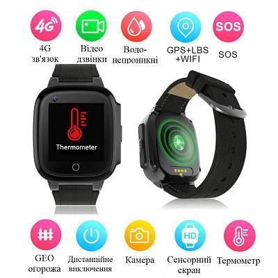 Smart часы детские с GPS отслеживанием Nectronix LT-25, с поддержкой 4G, термометром, камерой, сенсорным