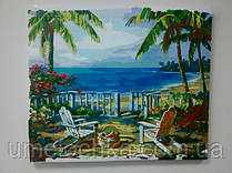 """Картина по номерам на холсте Babylon """"Пляж Анатолии"""" Код: VP009"""
