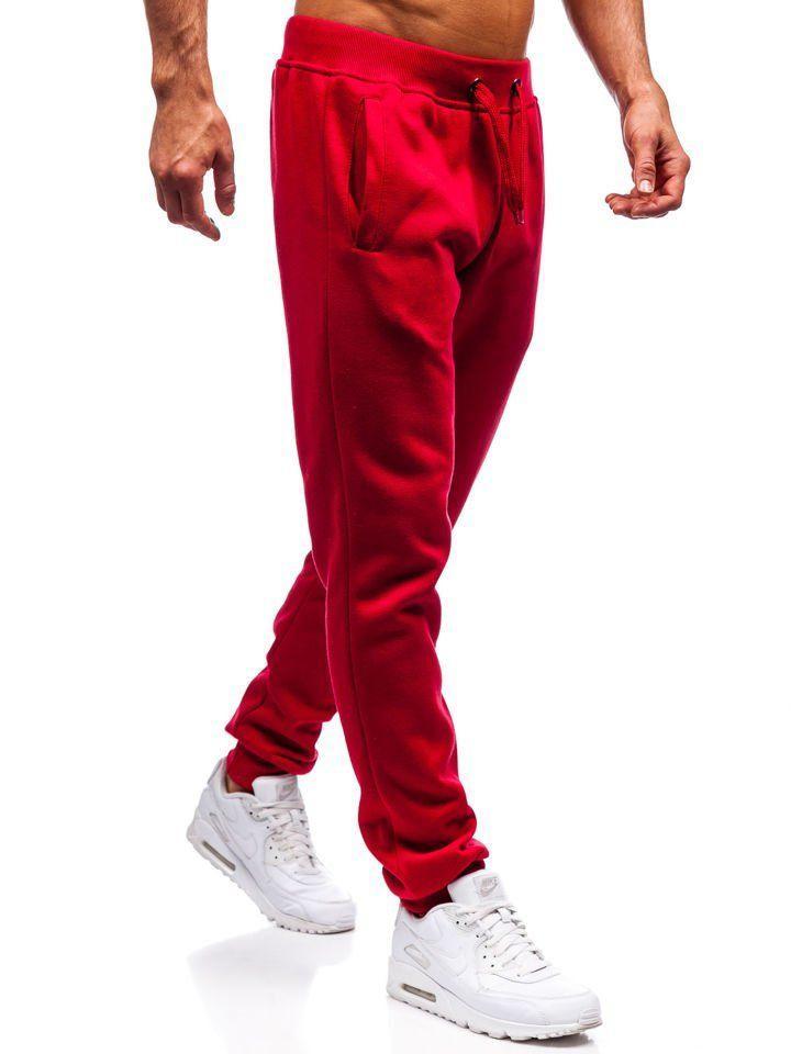 Штаны мужские спортивные красные
