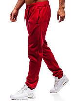 Штаны мужские спортивные красные, фото 3