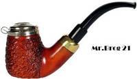 Трубка Mr.Brog №21 груша, охладитель, метал. крышка