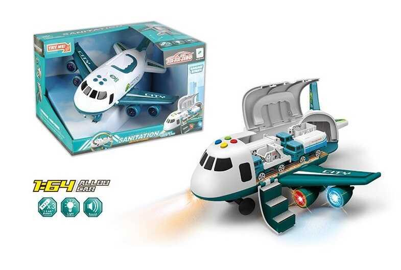 Самолёт 660 А-245 (18/2) свет, звук, 4 машинки, инерция, в коробке