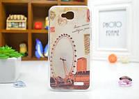 Cиликоновый чехол бампер с рисунком для LG L90 D410 Аттракцион