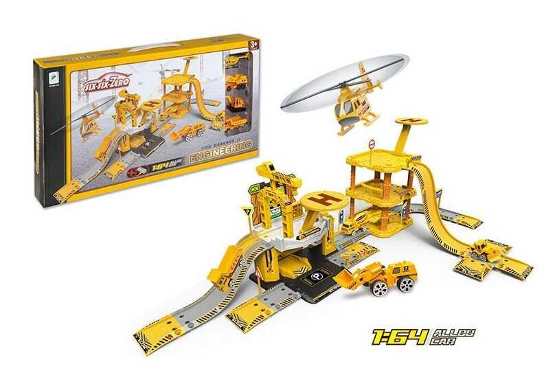 Гараж 660 А-94 (12/2) 4 машинки металопластик, в коробці