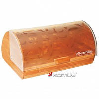 Хлебница сталь+бамбук+пластик Kamille 1104