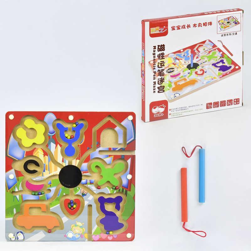 Деревянная игра Лабиринт на магнитах C 31327 (60) в коробке