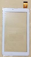 Оригинальный тачскрин / сенсор (сенсорное стекло) для Pixus Play Three v4.0 (белый цвет, самоклейка)
