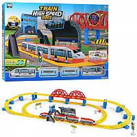 """Залізниця 789-2 (8/2) """"Швидкісний поїзд"""", на батарейках, 59 елементів, довжина шляхів 473 см, 2 локомотива,"""