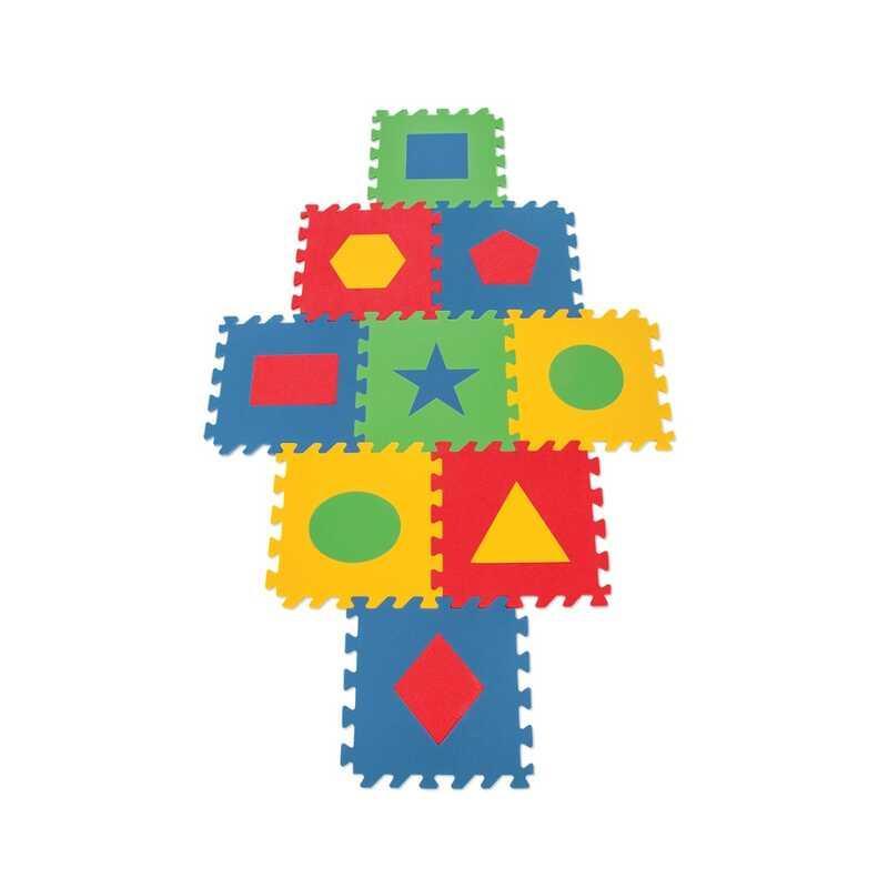 """Килимок-пазл Pilsan 03-472 (6) """"Геометрія"""" 9шт в коробці"""