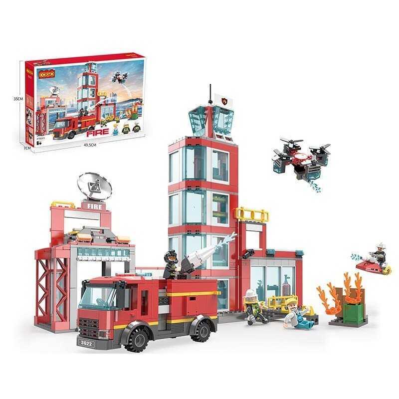 """Конструктор 3622 (12/2) """"Пожежний штаб"""", 616 деталей, в коробці"""