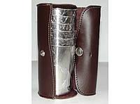Дорожный набор стопок. 6 шт по 200 мл в кожаной сумке алST3-49