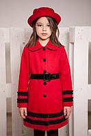 Пальто из кашемира, демисезонное для девочки (р. 30-36)