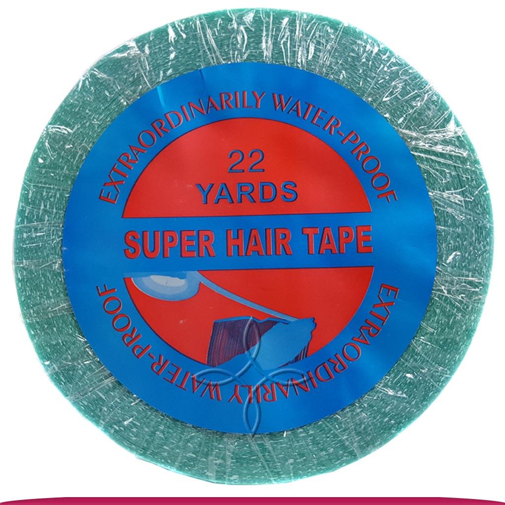 Лента для Наращивания Волос Двухсторонняя Cиняя Super Hair Tape Waterproof 20 м