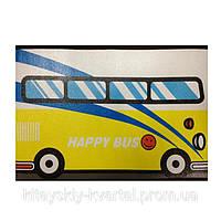 Детский стульчик-органайзер Автобус жёлтый
