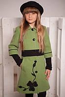Пальто из кашемира, демисезонное для девочки (р. 32-36)