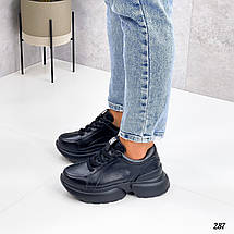 Кроссы черные женские 287 (ТМ), фото 2