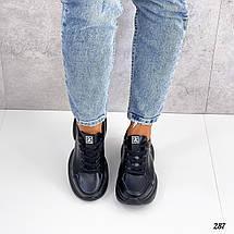 Кроссы черные женские 287 (ТМ), фото 3