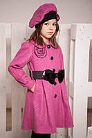 Пальто из кашемира, демисезонное для девочки (2 цвета,р. 30-34)
