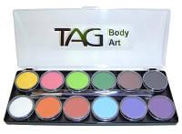 Аквагрим TAG палитра основные 12 цветов по 10 грамм