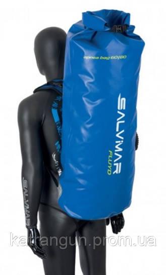 Сумка рюкзак для подводного снаряжения Salvimar Fluyd Dry Back Pack Blue 60-80 л - Магазин подводного снаряжения KatranGun — подводная охота, дайвинг, плавание, бассейн, обучение ПО в Киеве