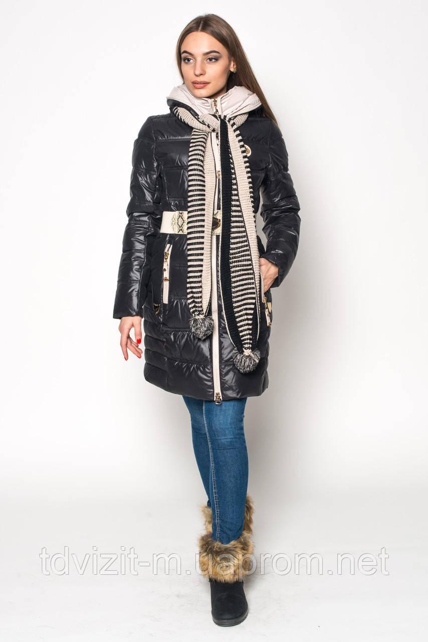 Куртка Kapre 1972+Шарф! черный (S-2XL) - Одежда оптом и в розницу от производителя. Интернет-магазин Визит М в Харькове