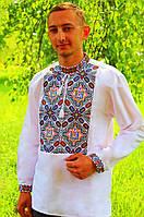 """Мужская уникальная народная вышивка с элементом """"Тризуб"""""""