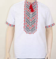 Мужская вышиванка с коротким рукавом , размер S, M, L, XL, XXL