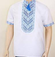 Чоловіча вишиванка з коротким рукавом , розмір S, M, L, XL, XXL