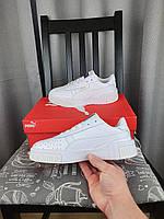 Жіночі кросівки Puma Cali Bold White білі Кроси для дівчат Пума Калі в білому кольорі повсякденні, фото 1