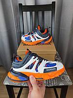 Кросівки жіночі Balenciaga Track Orange Blue помаранчеві з синім і білим. Бігові кроси Баленсіага Трек 2021, фото 1