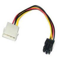 Переходник GPU 6pin на Molex. Дополнительное питание видеокарты 6 pin PCI-E