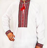 Чоловіча біла вишиванка , розмір 44-56