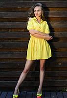 Платье лимонное женское,женское платье летнее