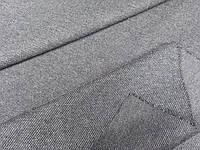Тканина трикотажна, плотна. зерно , сірий колір. жакетно пальтова, фото 1