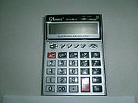Калькулятор настольный большой kenko 8199-12, прозрачные кнопки, питание от батареек, 12-разрядный дисплей