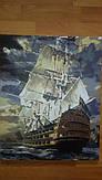 """Нарисованная картина по номерам на холсте Babylon """"Военный фрегат"""" VP181"""