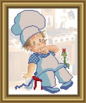 """Рисунок на ткани для вышивания бисером """"Пять веселых поварят"""", фото 2"""