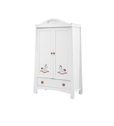 Шкаф двухдверный бельевой Parole Pinio