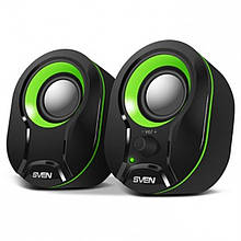 Акустическая система 2.0 Sven 290 Black/Green