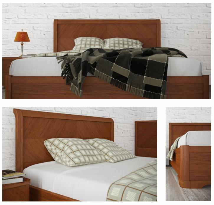 """Двуспальная кровать с подъемным механизмом """"Милена"""""""