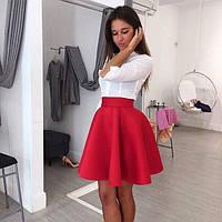 Женская стильная юбка-солнце из неопрена (расцветки), фото 1