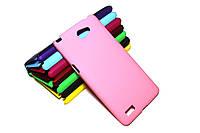 Пластиковый чехол для LG Max X155 розовый