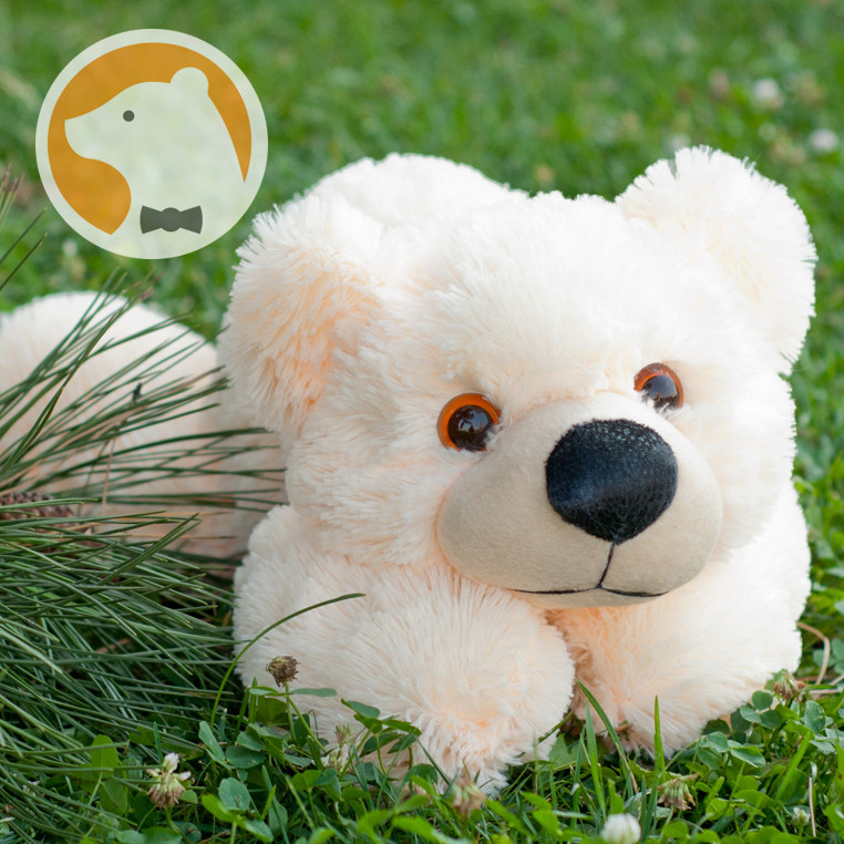 Мягкая игрушка Мишка Умка лежащий, 50 см